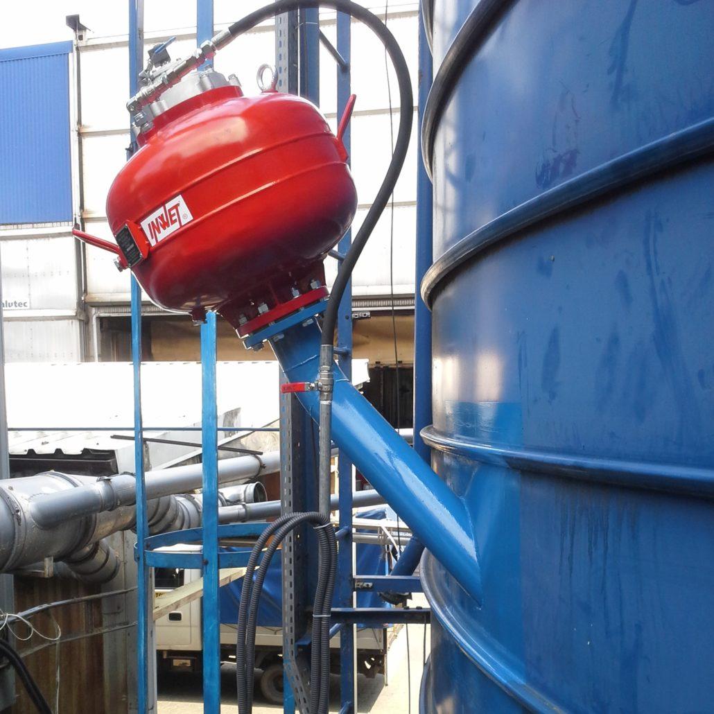 Pulsator pneumatyczny typu V, armatki powietrzne.