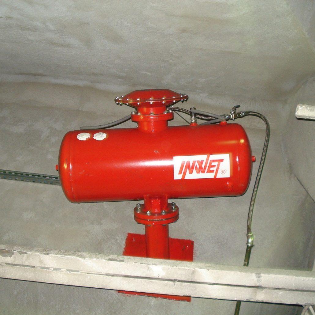 Pulsator pneumatyczny typu H, armatki powietrzne.
