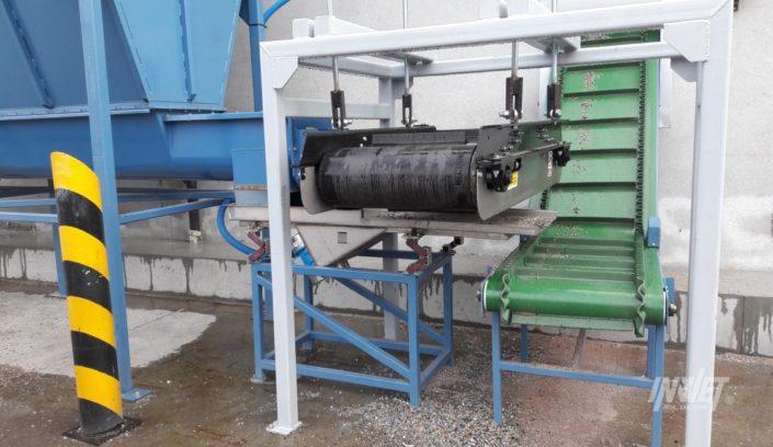 Podajnik z separatorem magnetycznym